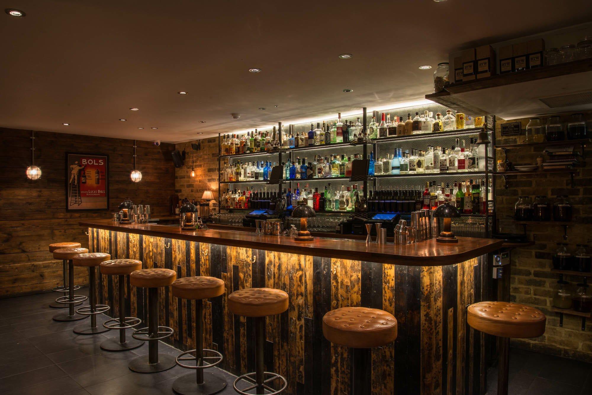 214 Bermondsey gin bars