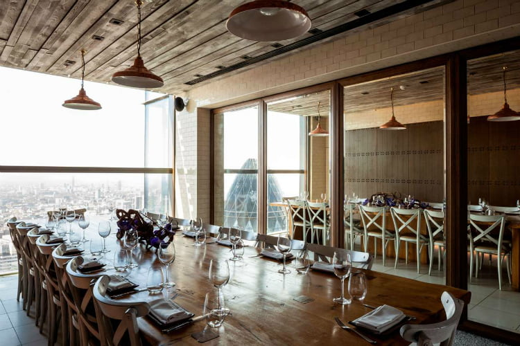 Duck and Waffle - private dining London