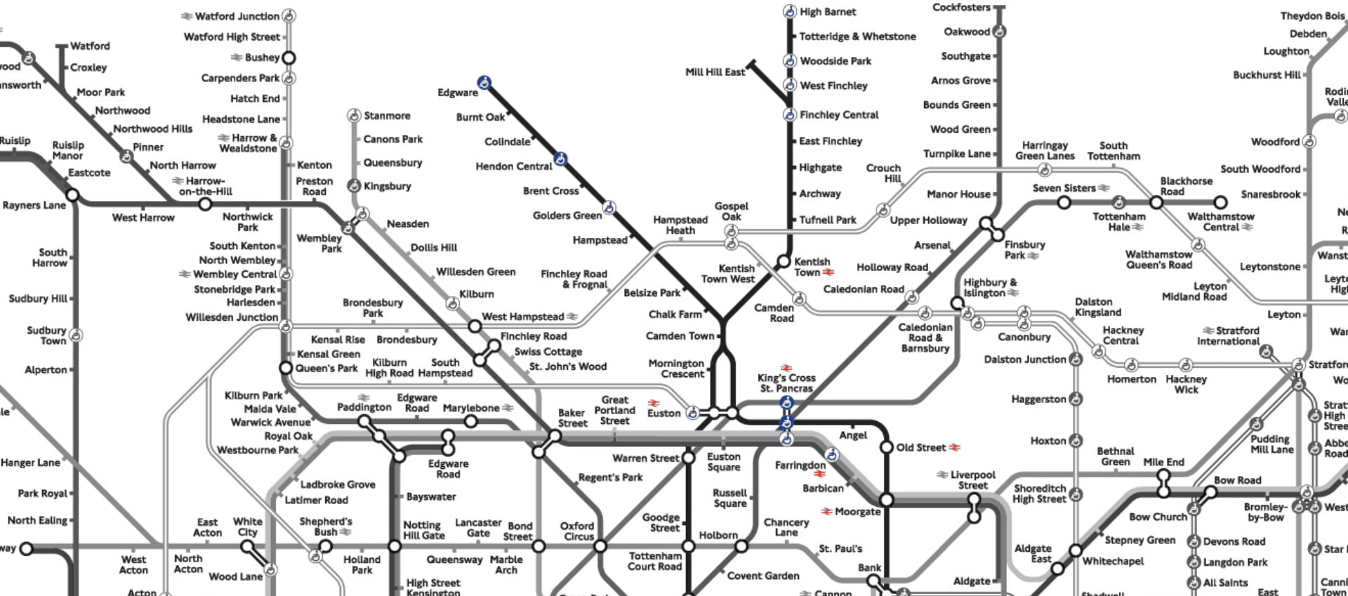 An Interesting Fact About Every Single Northern Line Station - Northern line map london