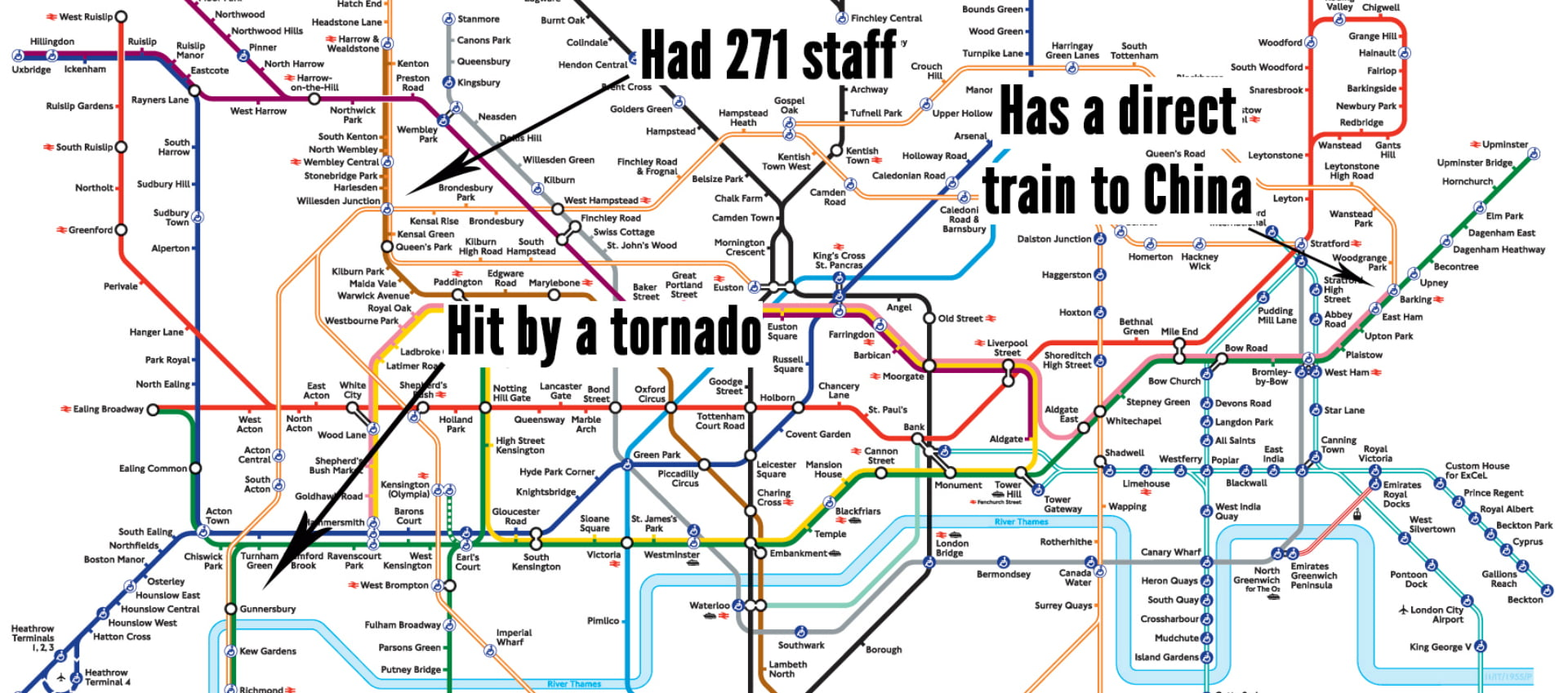 An Interesting Fact About Every London Tube Station Tube