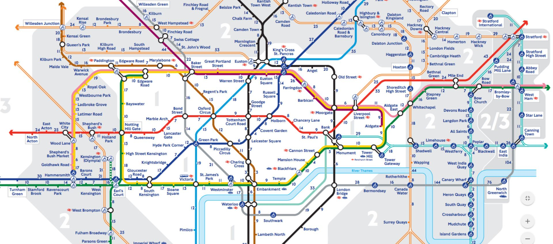 Walking Tube Map New TfL Map Shows The Distances Between Stations