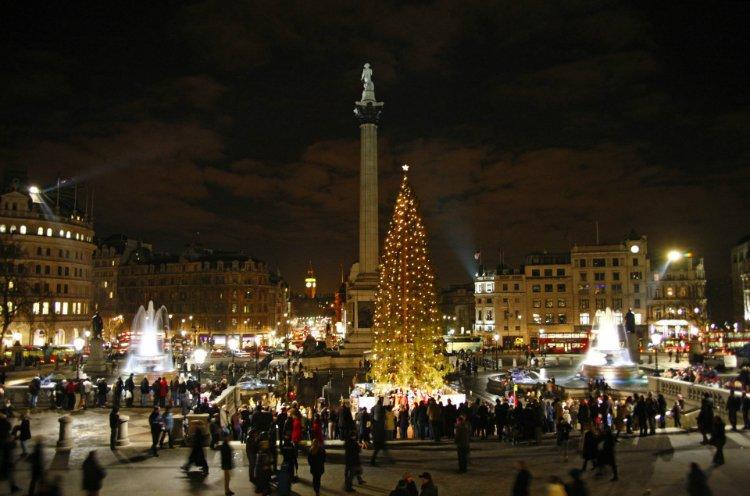 Trafalgar Square Christmas Lights 2019
