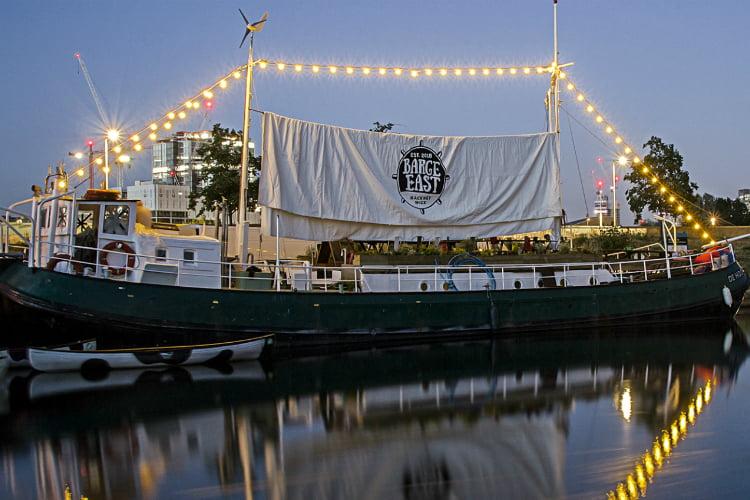 Barge East - 100 London Date Ideas