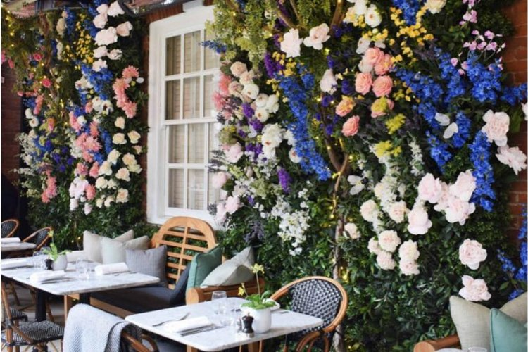 Dalloway Terrace - afternoon tea London