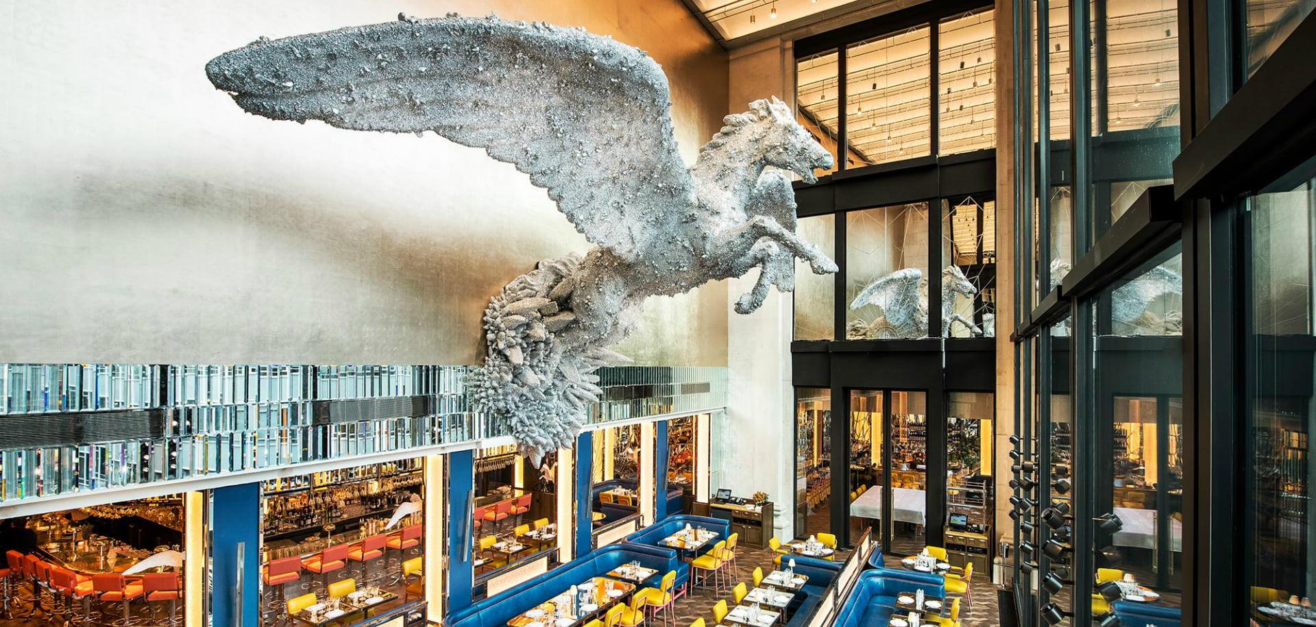 Brasserie Of Light Glittering Double Height Restaurant