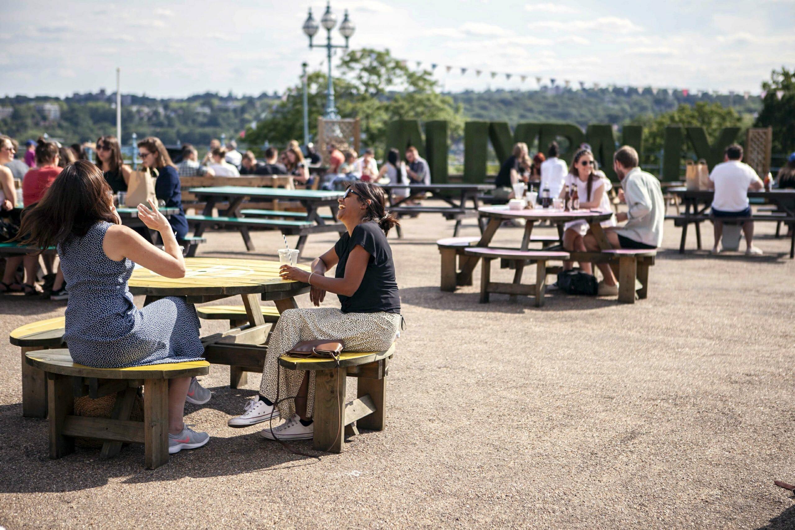 Alexandra Palace beer garden