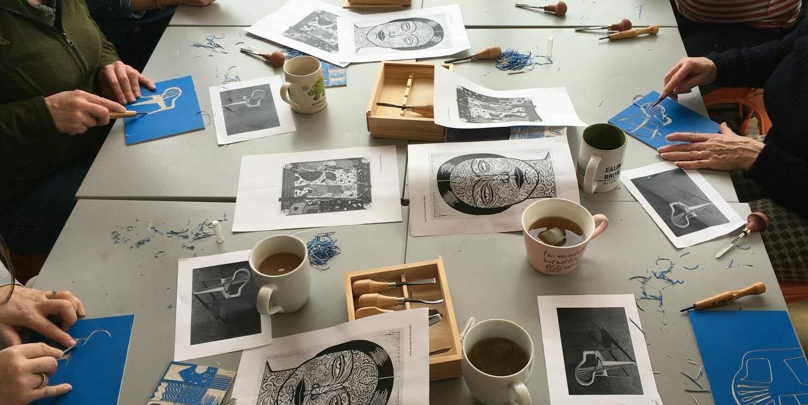 Debbie Chessell lino printing workshops
