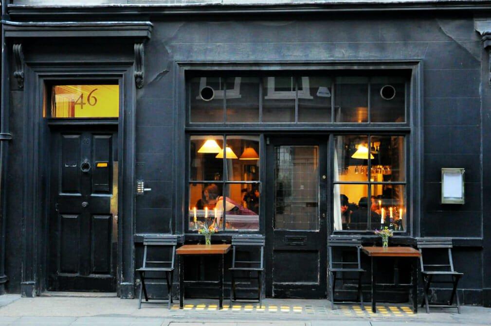 Romantic restaurants: Andrew Edmunds