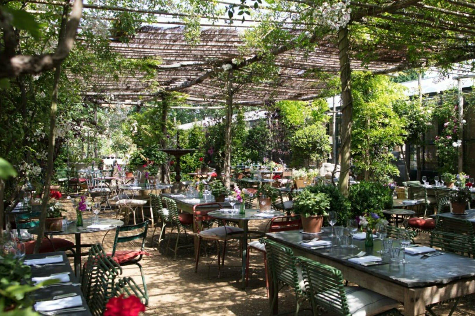 Romantic restaurants: Petersham Nurseries