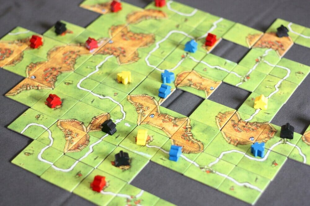 carcassonne two player board game
