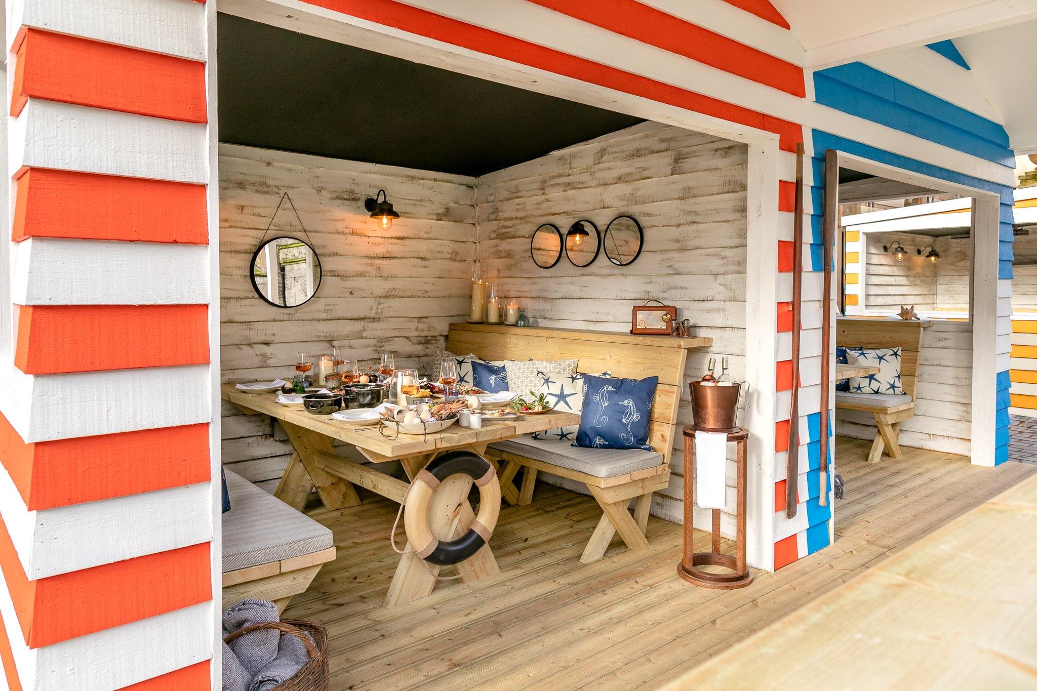 berkeley beach huts outdoor dining