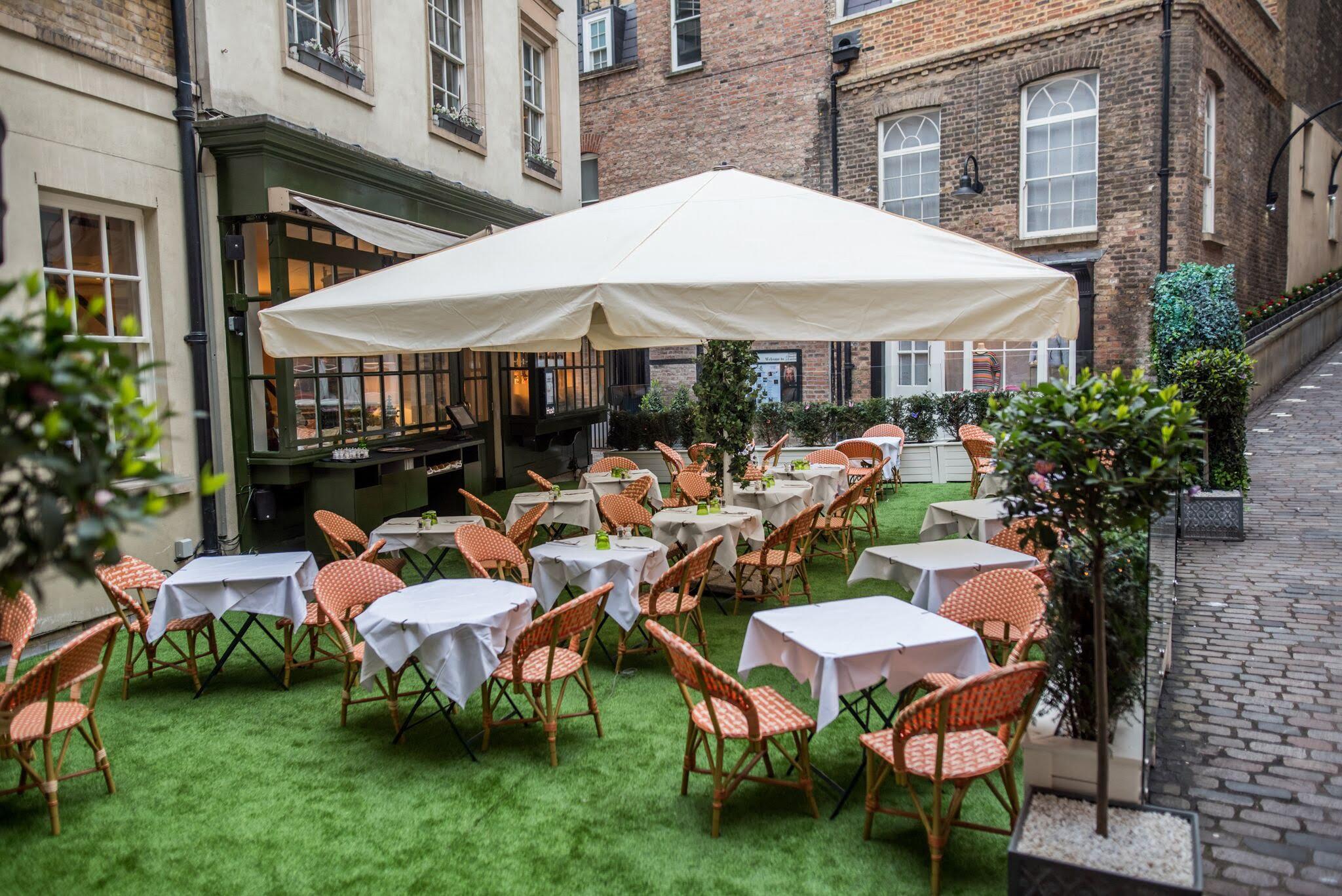 hush mayfair outdoor dining