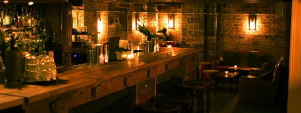 Enter A Dimly Lit Subterranean Cocktail Bar Entirely Composed Of Exposed  Brickwork, Scaffolding Planks, Victorian Floorboards And Motown Records.